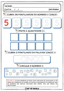 Sequencia Numerica — 1 A 10